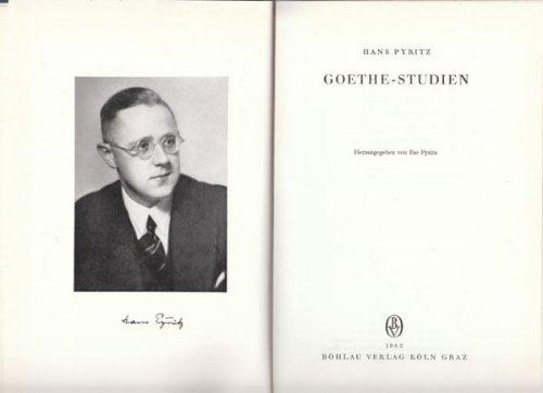 Goethe Studien: Pyritz, Hans