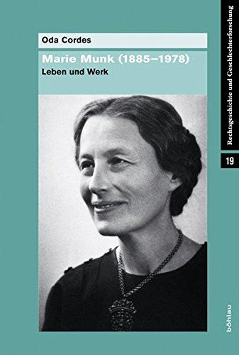 Marie Munk (1885-1978): Oda Cordes