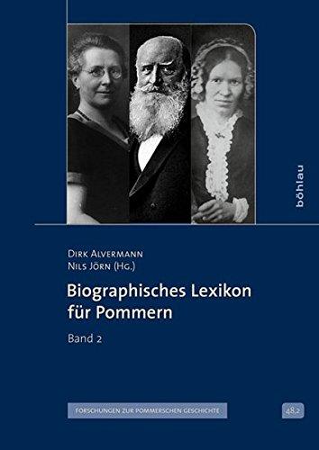 Biographisches Lexikon für Pommern Band 2: Dirk Alvermann