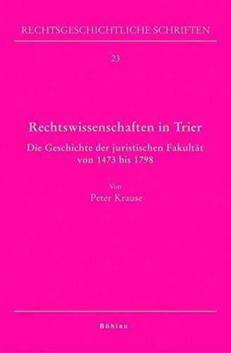 Rechtswissenschaften in Trier: Peter Krause