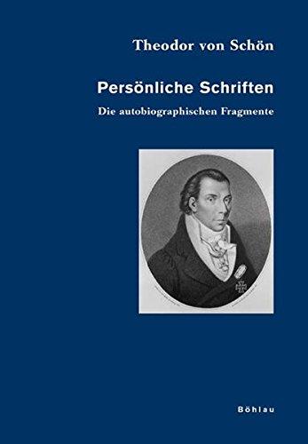 9783412233051: Persönliche Schriften 1. Die autobiographischen Fragmente