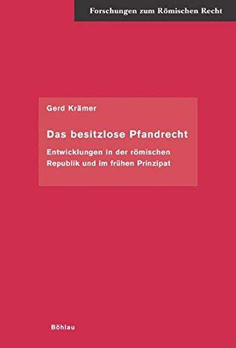 Das besitzlose Pfandrecht: Gerd Kr�mer