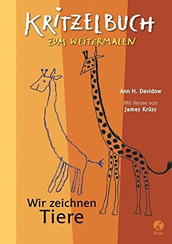 9783414822680: Wir zeichnen Tiere - Kritzelbuch