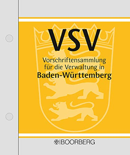 9783415005709: Vorschriftensammlung f³r die Verwaltung in Baden-W³rttemberg (VSV), 2 Ordner m. CD-ROM (Pflichtabnahme)