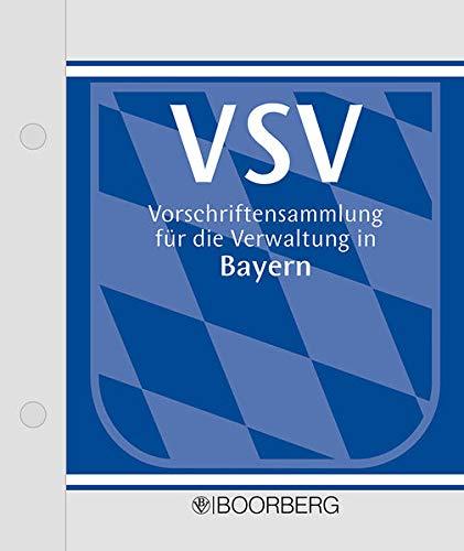 9783415005907: Vorschriftensammlung für die Verwaltung in Bayern (VSV),m. CD-ROM, 3 Ordner zur Fortsetzung