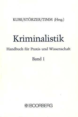9783415015067: Kriminalistik: Handbuch für Praxis und Wissenschaft (German Edition)