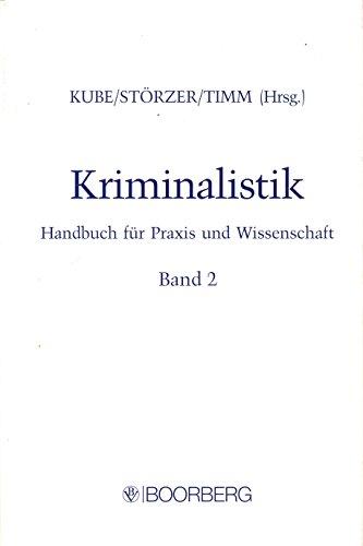 9783415015074: Kriminalistik. Handbuch für Praxis und Wissenschaft: Kriminalistik, Bd.2