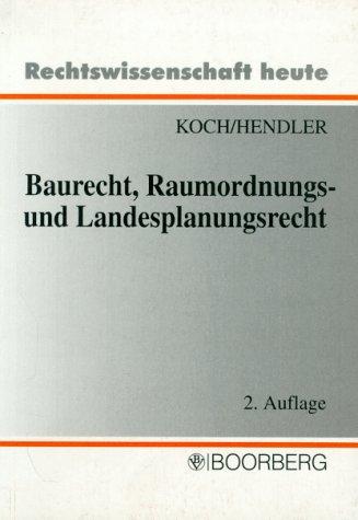 9783415022980: Baurecht, Raumordnungs- und Landesplanungsrecht