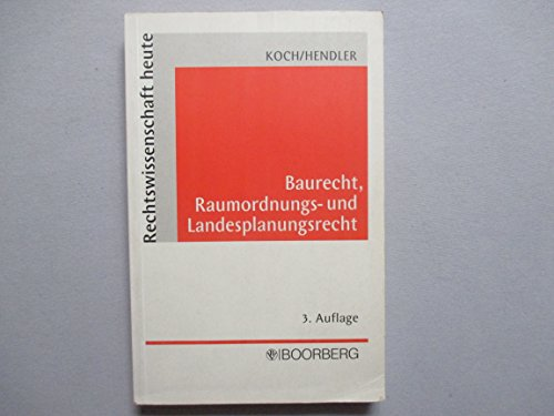 9783415027763: Baurecht, Raumordnungs- und Landesplanungsrecht (Livre en allemand)