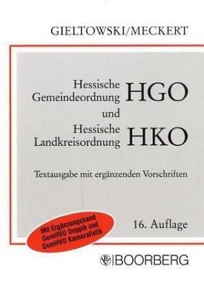 9783415028302: Hessische Gemeindeordnung und Hessische Landkreisordnung. Textausgabe.