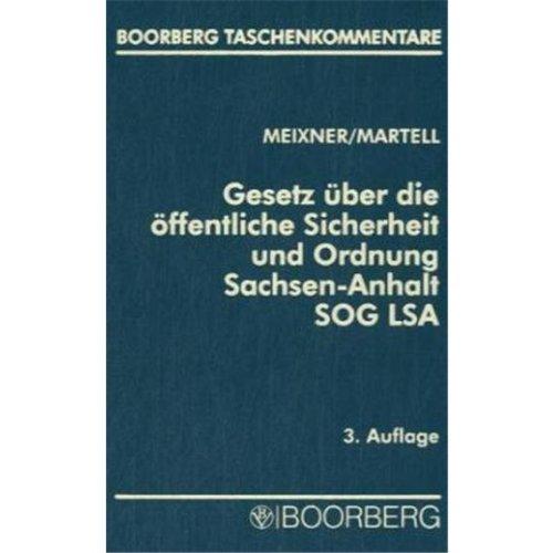9783415028494: Gesetz über die öffentliche Sicherheit und Ordnung des Landes Sachsen-Anhalt (SOG LSA).