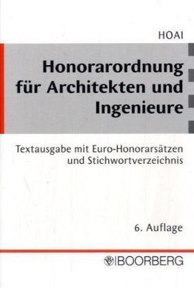 9783415029637: Honorarordnung für Architekten und Ingenieure ( HOAI).