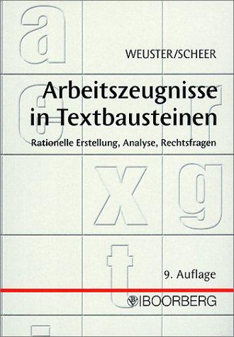 9783415030039: Arbeitszeugnisse in Textbausteinen