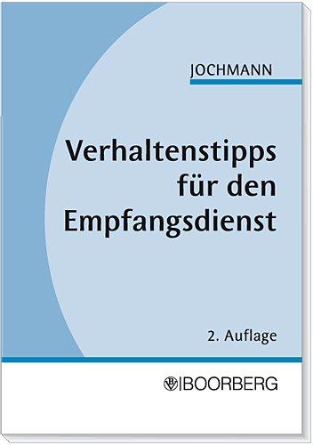 9783415031180: Verhaltenstipps f�r den Empfangsdienst.