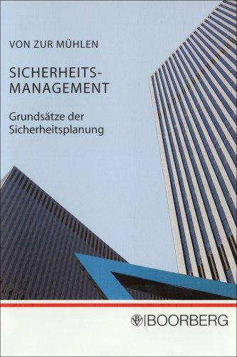 9783415036871: Sicherheits-Management: Grundsätze der Sicherheitsplanung