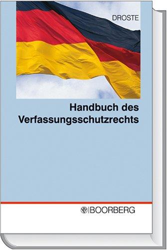 9783415037731: Handbuch des Verfassungsschutzrechts