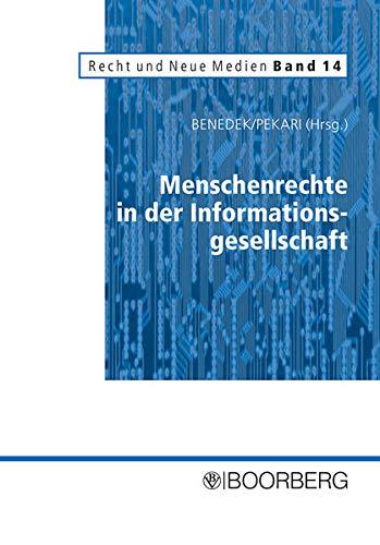 9783415038851: Menschenrechte in der Informationsgesellschaft