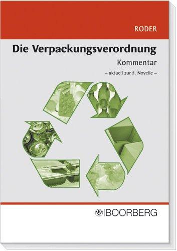 9783415041974: Die Verpackungsverordnung: Kommentar -aktuell zur 5. Novelle -