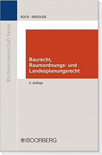 9783415042124: Baurecht, Raumordnungs- und Landesplanungsrecht