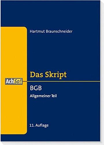 9783415042384: BGB - Allgemeiner Teil