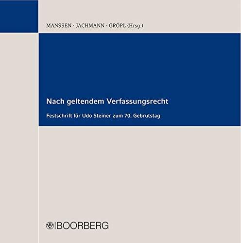 Nach geltendem Verfassungsrecht: Christoph Gröppl