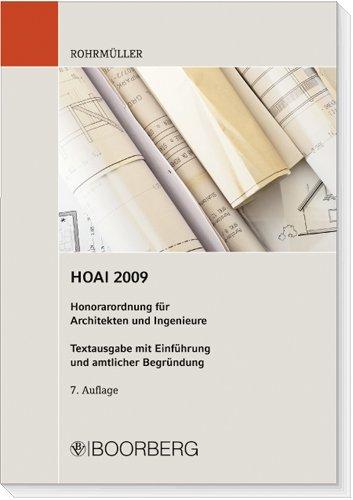 9783415043381: Honorarordnung für Architekten und Ingenieure ( HOAI): Textausgabe mit Einführung und amtlicher Begründung