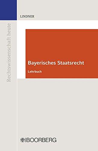 9783415045774: Bayerisches Staatsrecht