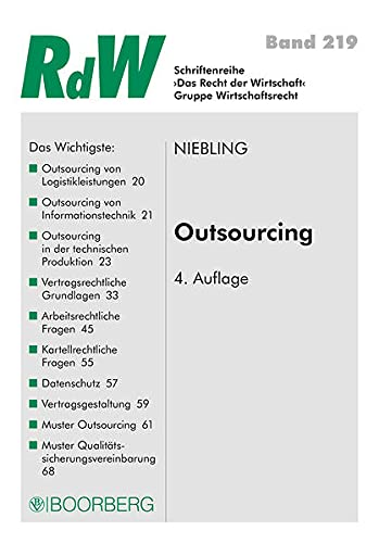 9783415051737: Outsourcing