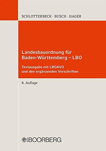 9783415054295: Landesbauordnung für Baden-Württemberg - LBO