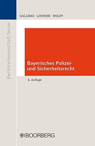 9783415054509: Bayerisches Polizei- und Sicherheitsrecht