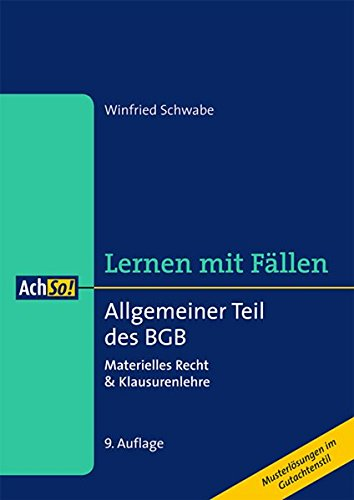 9783415055131: Allgemeiner Teil des BGB: Materielles Recht & Klausurenlehre