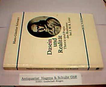 9783416019194: Dasein und Realität: Theorie und Praxis des Realismus bei J. M. R. Lenz (Studien zur Germanistik, Anglistik und Komparatistik)