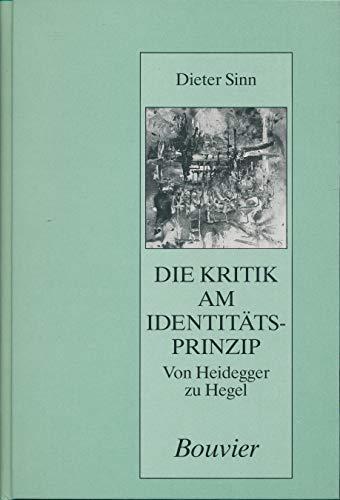 Die Kritik am Identitätsprinzip: Sinn, Dieter