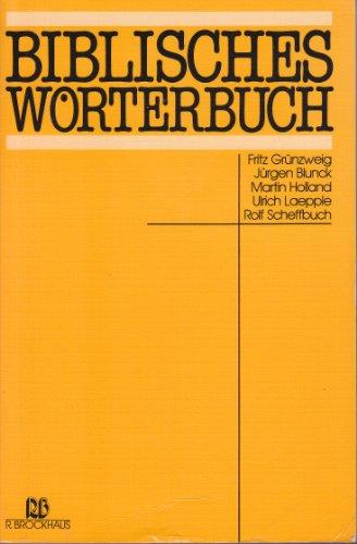 9783417240818: Biblisches Wörterbuch