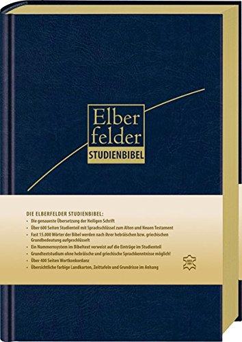9783417256024: Elberfelder Studienbibel - Leder, Goldschnitt: mit Sprachschlüssel und Handkonkordanz