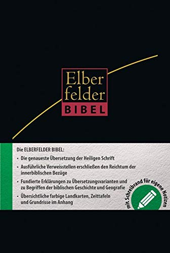 9783417257472: Elberfelder Bibel - mit Schreibrand, Leder