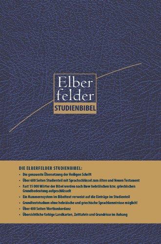 9783417258585: Elberfelder Studienbibel: Mit Sprachschlüssel und Handkonkordanz