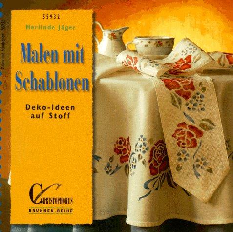 9783419559321: Malen mit Schablonen. Deko-Ideen auf Stoff
