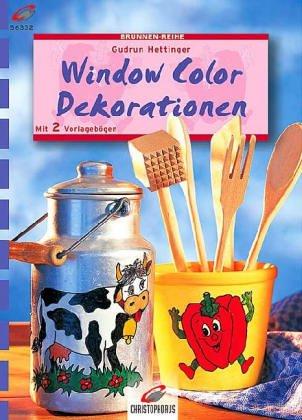 9783419560778: Window Color, Deko-Ideen. Für Fenster und Spiegel. Mit 2 Vorlagenbögen