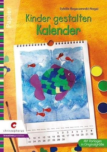 9783419569139: Kinder gestalten Kalender: Drucken, malen, kleben