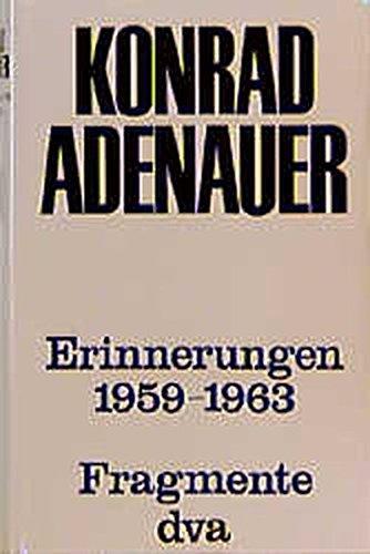 9783421014733: Erinnerungen 1959-1963: Fragmente