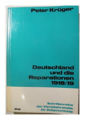 9783421016201: Deutschland Und Die Reparationen 1918-1919