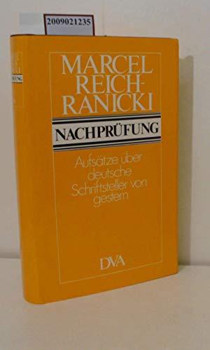 9783421019080: Nachprüfung: Aufsätze über deutsche Schriftsteller von gestern