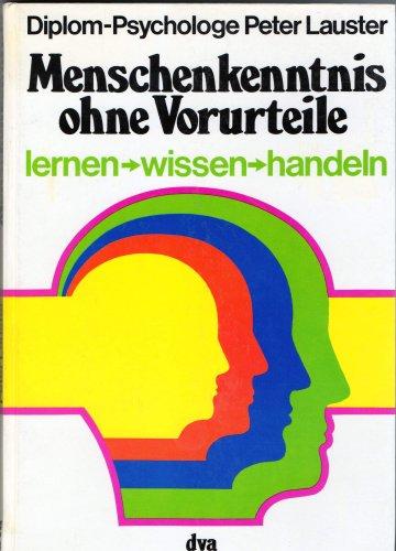 9783421023582: Menschenkenntnis ohne Vorurteile -lernen-wissen-handeln (Livre en allemand)