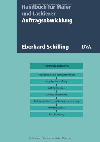 9783421034359: Auftragsabwicklung: Handbuch für Maler und Lackierer