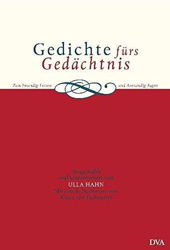 9783421051479: Gedichte fürs Gedächtnis: Zum Inwendig-Lernen und Auswendig-Sagen
