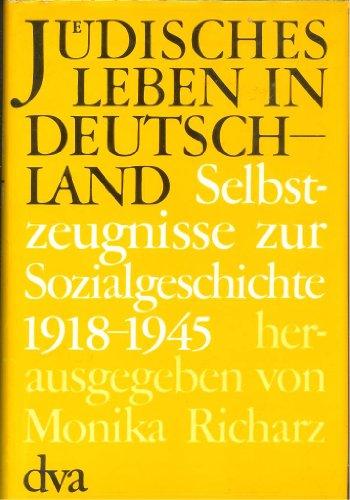 9783421060945: Selbstzeugnisse zur Sozialgeschichte 1918-1945, Bd III
