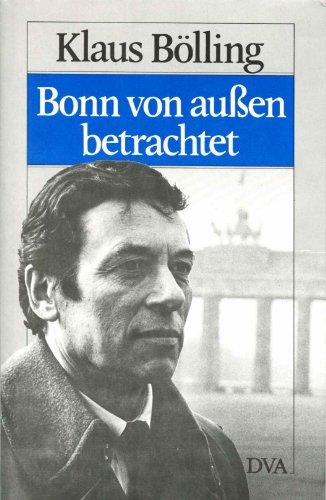 9783421063298: Bonn von aussen betrachtet: Briefe an einen alten Freund