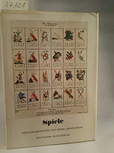 Spiele : Gesellschaftsspiele aus e. Jahrtausend. bearb. von, Kataloge ; Bd. 14: Himmelheber, Georg: