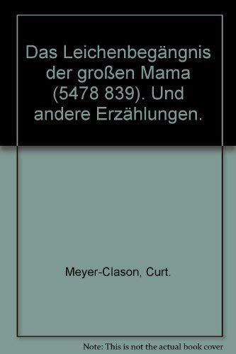 9783423012379: Das Leichenbegängnis der Grossen Mama.. Und andere Erzählungen.